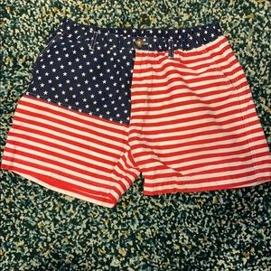 Chubbies American flag khaki shorts